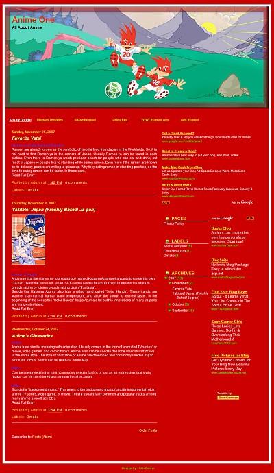 Euro 2008 Mascot Blogger Template