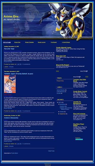 Gundam Sandrock Blogger Template
