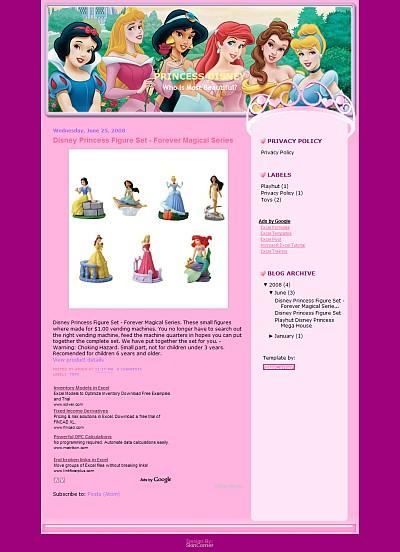 Disney Princess Template