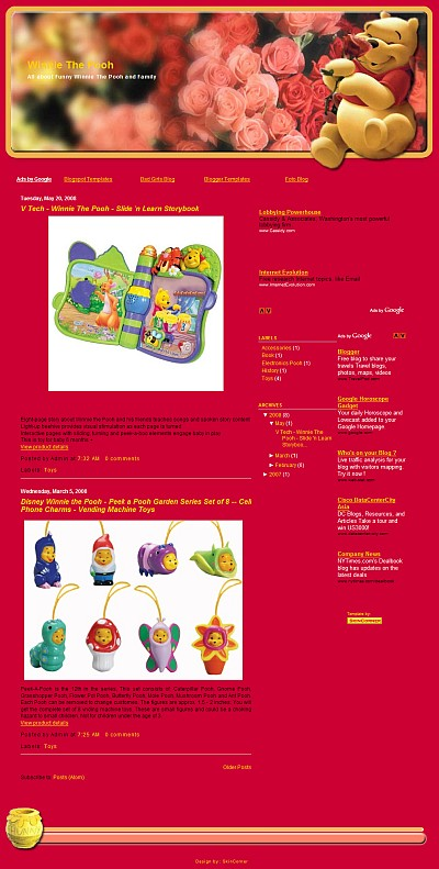 Winnie The Pooh Blogger Template