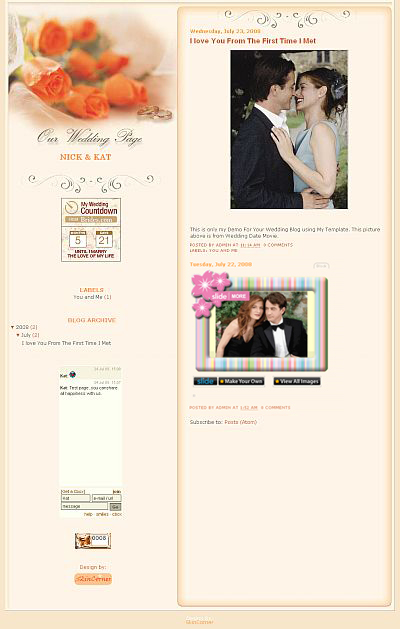 This is 2 Column Free Wedding Blogger Template Perfect for your Personal