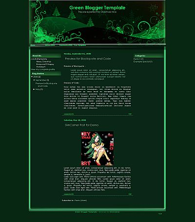 15+ Beautiful Free Christmas Blogger Themes 2011
