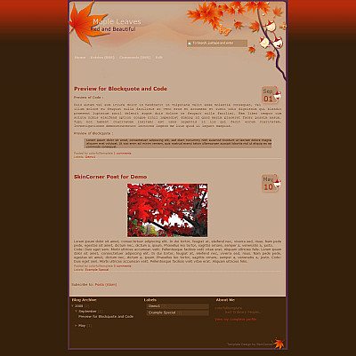 red-leaves-blogger-template
