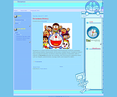 doraemon-blogger-template