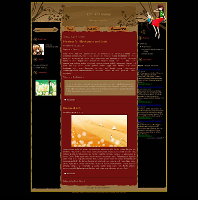 Echi-Blogger-Template